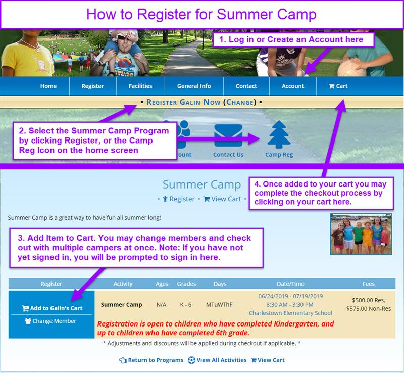 2bc4529161 When you're ready to start registering for activities, be sure to review the  How to Register for an Activity page.